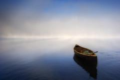 Chapeau Vert (Renald Bourque) Tags: lake hat outside boat lac chapeau canot