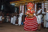 Theyyam at Kannur (Anoop Negi) Tags: theyyam india kerala kannur cannanore folk worship religion hindu tribal dance form god trance red headgear anoop negi ezee123 hindusim ritual photo photography body paint painting bodypainting bali baali vellatam