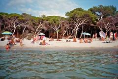 (Monica Forss) Tags: minoltaprod20s film analog 35mm italy italia sardegna sardinia alghero beach sea sand water summer tree seaside shore people