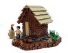 Primitive technology - tiled roof hut (Magma guy) Tags: lego primitive technology tiled roof hut mud walls stones bushcraft
