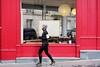 An empty board in a window  7-2017 ( serie walkers ) (Kairos !) Tags: walker runner urban city street streetwalk streetview streetphotography streetphotographer red rotrossorougerood reflet reflection fujifilm fujixt10