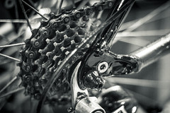 16-Jan-2017 (danielg.blount.photography (please don't follow me) Tags: bicycle bike cogs chain canon 550d eos550d 365project 3652017 project365 photoaday monochrome blackandwhite blackwhite sport gears metal 50mm