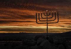 Hanukkiah Sunset (Nolan Thornberry) Tags: sunset coloradosunset cedaredgecolorado hanukkah hanukkiah