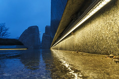 Cold, wet, and windy at the MLK Jr. Memorial this morning (erikcoxphotography) Tags: washingtondc mlkmemorial martinlutherking martinlutherkingjrmemorial cold wet wind rain weather