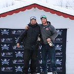 Tabor Western Ski Cross event Jan 2017 - Mitch (left) and Fern (right) Thibeault (Tabor owner and his son/course builder)