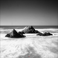 Seal Rock (marc.stokes) Tags: black b w white mono monochrome chrome saturation square seal rock rocks ocean pacific coast san francisco sf sfo format shadows light long exposure nd filder nd10