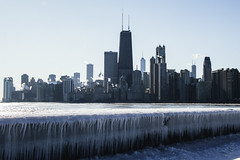 Winter wins (aerojad) Tags: chicago winter snow outdoors lakemichigan skyline northavenuebeach landscape cityscape chicagoist