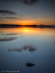 Dusk at the Lake of Menteith (silverlarynx) Tags: scotland highlands trossachs lake menteith sunset dusk reflections