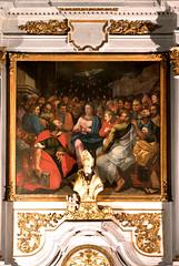 Hondschoote, Nord, Flandres, église Saint-Vaast, altar of saint Nick, detail