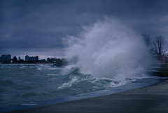 Fury (Philocycler) Tags: chicagoist fury canon canoneos5dmarkiii ef85mmf18 lakemichigan chicagolakefront storm evening rage