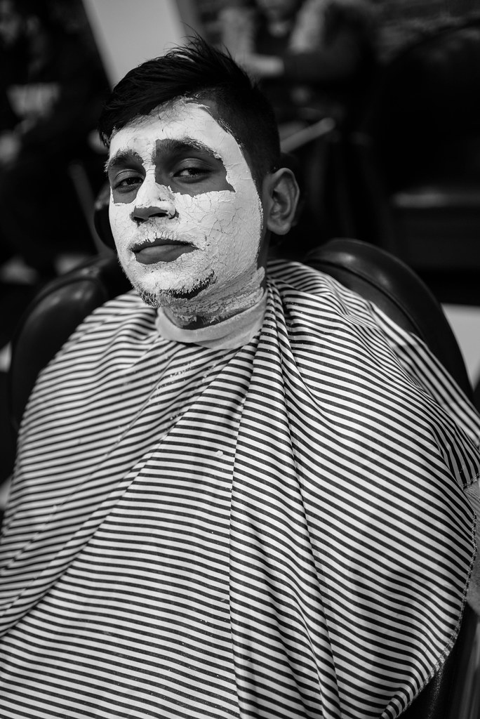 ... Tags: barber turkish london east shave mask leica m240 bw black white
