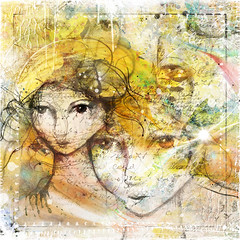 Bernie Tuffs - Who Am I? (Bernie Tuffs - Digital Artist) Tags: awake digitalart faces people colour grunge