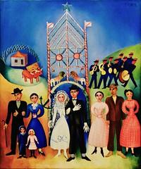 Wedding in the village (1937) - Sarah Affonso (1899 - 1983) (pedrosimoes7) Tags: sarahaffonso ✩ecoledesbeauxarts✩ artgalleryandmuseums caloustegulbenkianmuseum moderncollection lisbon portugal museu musée museum creativecommons cc