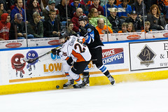 "Missouri Mavericks vs. Wichita Thunder, January 7, 2017, Silverstein Eye Centers Arena, Independence, Missouri.  Photo: John Howe / Howe Creative Photography • <a style=""font-size:0.8em;"" href=""http://www.flickr.com/photos/134016632@N02/32210094596/"" target=""_blank"">View on Flickr</a>"