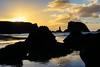 Sunset Silhouetted (KnightedAirs) Tags: nikon nikkor d5200 35mm afs dx bandon beach sky sun sunset landscape ocean sand dusk oregon coast coastal rock formations waves wave