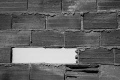 Hueco (miukelele) Tags: hueco ladrillo muro textura urban blancoynegro bw