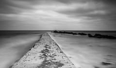 Grey day out at sea! (Nathan J Hammonds) Tags: nikon d750 nd 10stop water tide sky clouds sea coast long exposure moody rocks path swanage monochrome