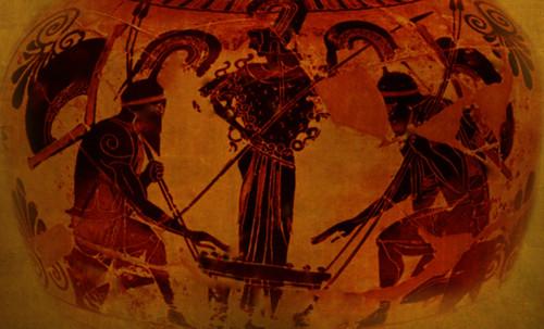 "Petteia - Ludus Latrunculorum  / Iconografía de las civilizaciones helenolatinas • <a style=""font-size:0.8em;"" href=""http://www.flickr.com/photos/30735181@N00/32522207025/"" target=""_blank"">View on Flickr</a>"