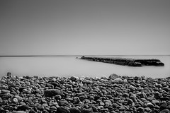 vision softly creeping (R*Wozniak) Tags: blackandwhite blackwhite longexposure lakemichigan silk rocks landscape bw