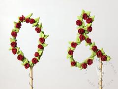 Initialen Topper für Hochzeitstorte (♥ Tortenfiguren.at ♥ Hochzeitstortenfiguren ) Tags: topper caketopper cakedecorating cake tortendeko tortendekoration torte hochzeit hochzeitstorte wedding weddingcaketopper weddingcake sticks stecker love text schriftzug