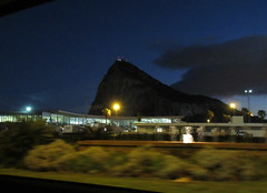 Airport and Rock of Gibraltar, dusk, from Avenida Príncipe de Asturias, La Línea, Spain (Paul McClure DC) Tags: mediterranean dec2016 spain españa andalucía andalusia campodegibraltar lalíneadelaconcepción airport gibraltar scenery architecture
