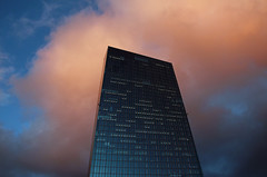 EZB. (universaldilletant) Tags: frankfurt architektur europäischezentralbank ezb ecb europeancentralbank wolken clouds
