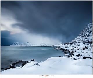 Rørvik beach at twilight