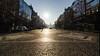 Crossing Wenceslas Square (C McCann) Tags: václavskénáměstí prague praha czechrepublic czech wenceslassquare downtown street cobble morning sunrise europe