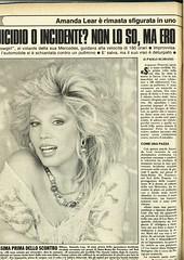 Gente (Nobo Sprits) Tags: gente 1 maggio 1987 amanda lear magazine rivista incidente dauto stradale ferito ospedale casino ruhl car crash accident de voiture collision