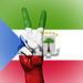 Peace Symbol with National Flag of Equatorial Guinea