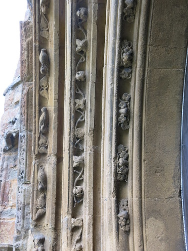 West door - carvings on recessed arches