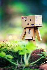 There's another Danbo behind me, right? (Art by Vins) Tags: cute nature canon toy toys actionfigure bokeh adventure kawaii 5d pepsi yotsuba danbo 100mm28 revoltech danboard 5dmarkii 5dmkii