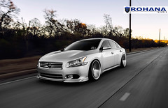 Nissan Maxima - RC8 Machine Silver (9) (Rohana Wheels) Tags: nissan wheels tuner rims import maxima nismo rohana nissanmaxima rc8 4dsc rcseries rohanawheels nissanpower