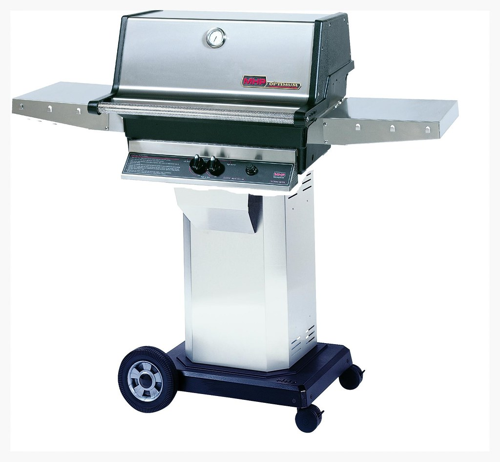 MHP TJK Grill on rolling cart