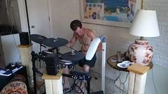 Martin jammin' to U2 (brooksbos) Tags: portrait people musician music man u2 drums video sony cybershot drummer brooks rx100 brooksbos rx100m2 dscrx100m2