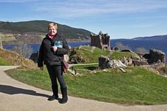 Mags at Urquhart Castle (Dysartian) Tags: uk scotland britain wife loch mags lochnessmonster lochness inverness nessie castleurquhart highlandsandislands bonnyscotland dysartian photographybydysartian