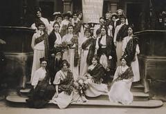 Suffragettes with tartan sashes, c.1908.