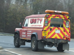 Unity of Leicester (stevenbrandist) Tags: red 4x4 leicestershire stripes unity breakdown landrover beacon recovery defender lightbar unityofleicester m60tow