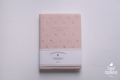 DSC01538 (sweetimpatience) Tags: notebook gold calendar diary almanac babypink wannabediary