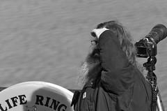 Lifeguard? (rdlpix) Tags: portrait blackandwhite bw monochrome lens photography long eagle dam candid birding bald conowingo