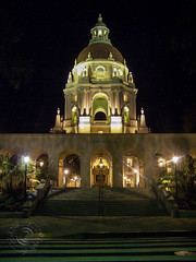 Pasadena City Hall (Night - Courtyard) (J Swanstrom (Check out my albums)) Tags: california city light building architecture night stars hall long exposure kodak astro pasadena dx7590 jswanstromphotography