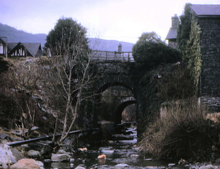 Corris Railway - Corris Railway Bridge just outside the station on the 13th April 1968