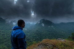 Admiring the View (rahul_th) Tags: sky cloud india mountain mountains clouds sikkim northsikkim