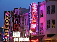 neon nightclubs (kenjet) Tags: sf sanfrancisco city light streets sign lights neon bigals nightclub northbeach neonsign condor roaring20s condorclub condornightclub