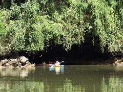 Lot Cave- (SierraSunrise) Tags: water thailand boats kayak caves transportation rivers limestone cave geology karst tidal krabi borthor