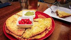 have a slice (Shenghung Lin) Tags: food chicken dish indoor slice meal tortilla mixture quesadillas