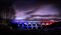 Hommage aux victimes au Pont du Gard (Rmi Avignon) Tags: pont provence pontdugard gard hommageparis