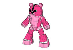 Mechanical Version Gloomy Bear Free Papercraft Download (PapercraftSquare) Tags: bear pink gloomy gloomybear