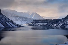 lucky peak-12-20-15-9 (Ken Folwell) Tags: canon5dii snow water resevoir winter landscape outdoor