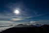 Moonrise from Haleakala (hawaiiansupaman) Tags: haleakala haleakalanationalpark moon cloudynightsky nightsky maui hawaii kalahaku moonlight clouds
